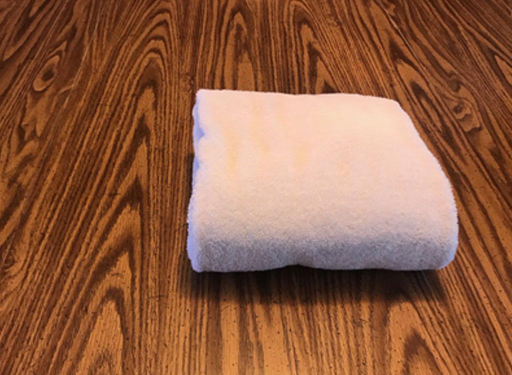 folding towels- finished towel