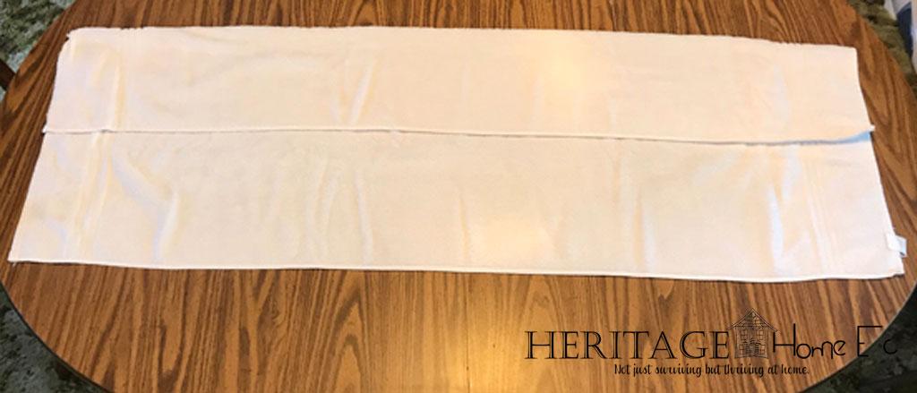 folding towels step 1