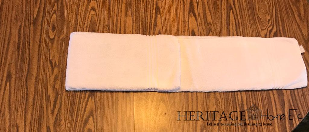 folding towels step 3