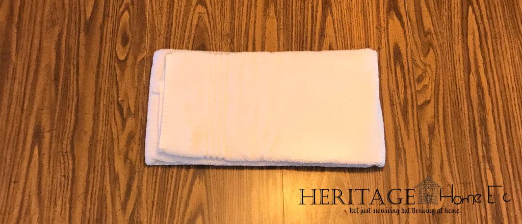 folding towels step 4