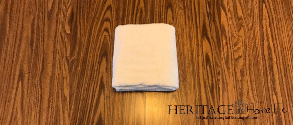 folding towels step 5