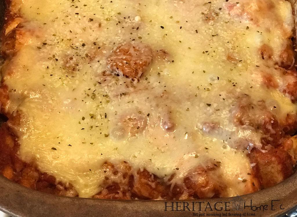 5-ingredient chicken parmesan casserole